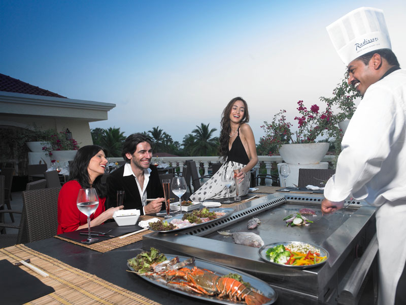 resorts with pan asian restaurant in goa - zuri whitesands